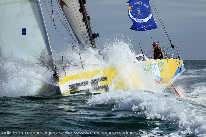 Photos, Volilier, Appart City, Photo, Voilier, Route du Rhum 2010, Photo, Yvan Noblet, Voilier, Appart City, Class 40, Erik Brin, Photographe,