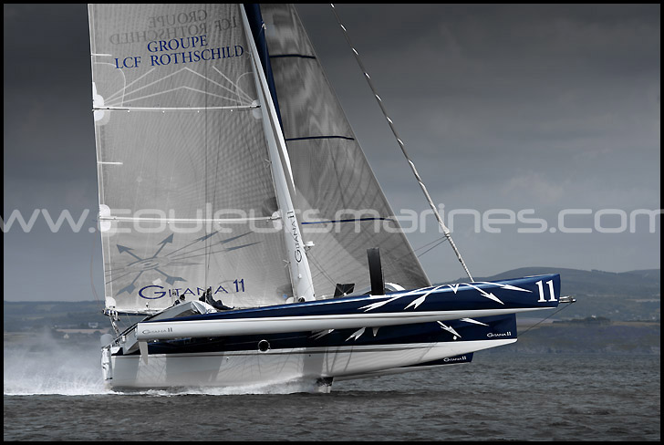 photo, trimaran, multicoque, Gitana XI, photos, trimarans, multicoques, photos, bateaux de course, voiliers de course, voile, mer, nautisme, transat, erik brin, photographe