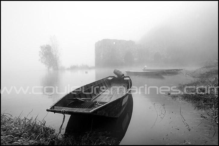Photos, la Loire, noir et blanc, brouillard, photos de la Loire dans le brouillard, photos de la Loire en noir et blanc, Erik Brin, photographe de Loire, Brume, Champtoceaux