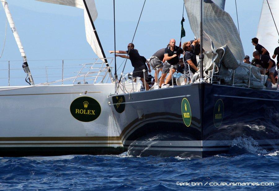 Maxi Yacht Rolex Cup 2011, crash entre Kora 5 et Illusion