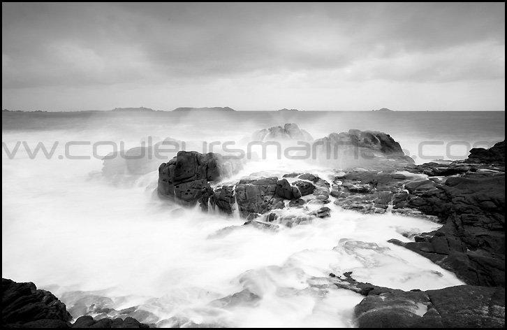 Photo de tempête, Bretagne, Côte de Granit Rose