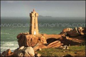 Bretagne, le phare de Men Ruz à Ploumanach