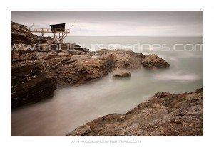Pêcherie moderne prés de Pornic en Loire Atlantique. Erik Brin, photographe de mer