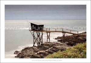 Pêcherie de la côte de Jade près de Pornic. Erik Brin, photographe de mer