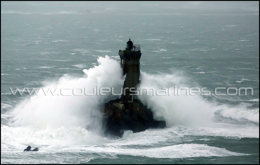 Tempête en Bretagne, phare de La Vieille. Pointe du Raz
