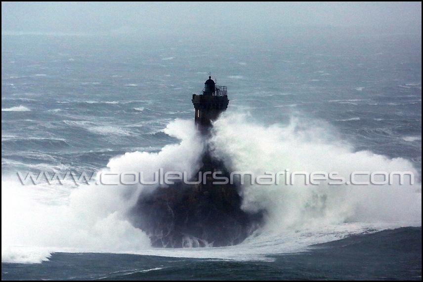 Tempête en Bretagne, Phare de La Vieille, Pointe du Raz